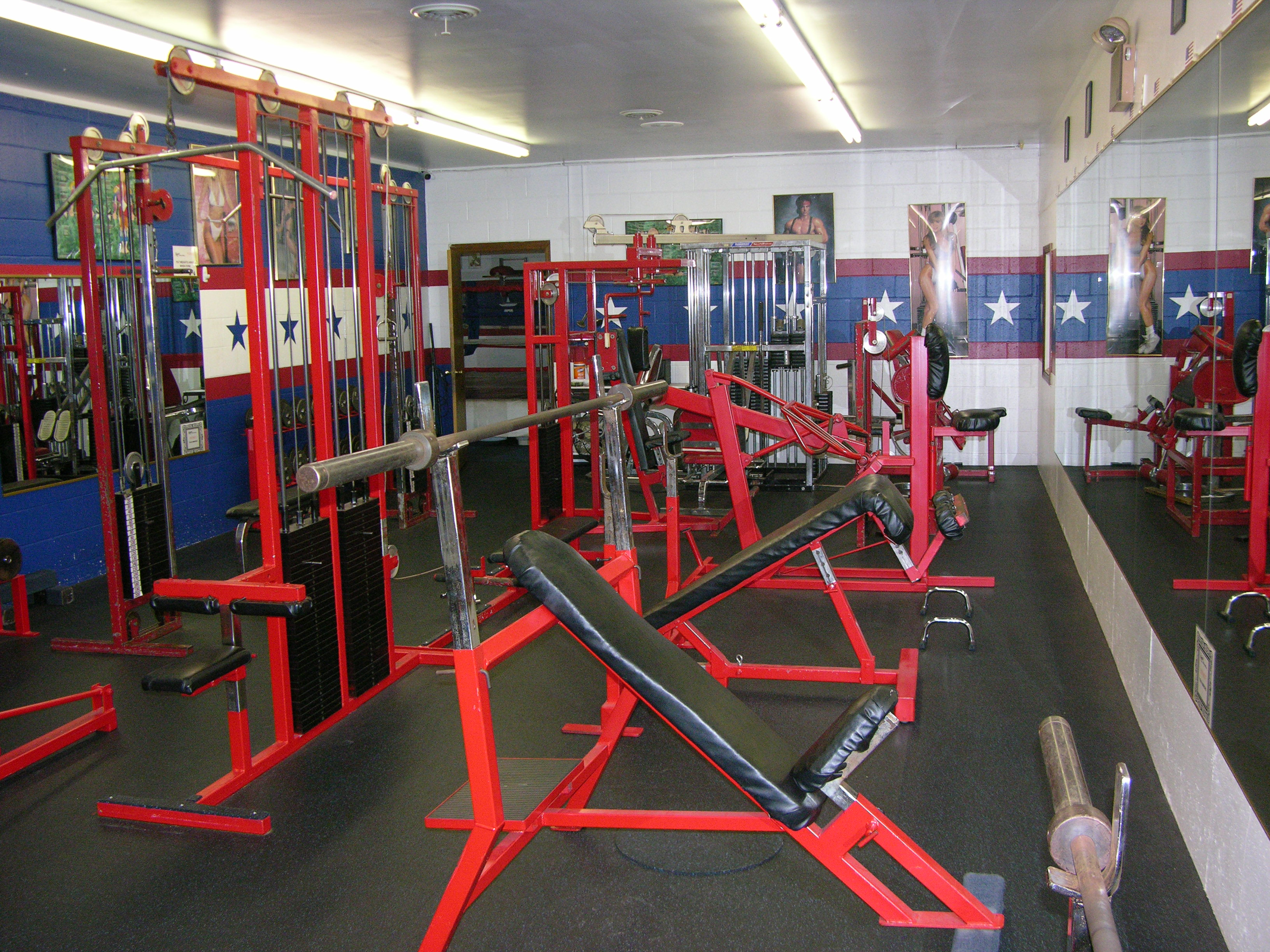 Fitness center weight room at rocky s dojo and gym sugar grove